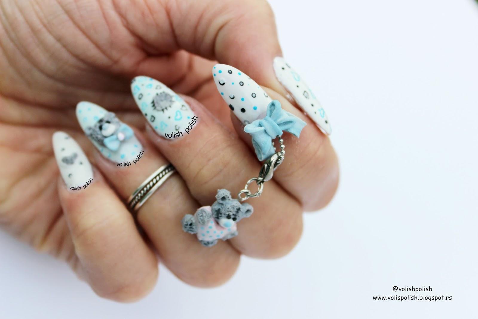 3D i 4D nail art: Tatty Teddy Me to You medvedić od akrila ...